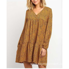 Ladies polyester georgie print dress